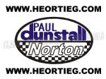 Paul Dunstall Norton Tank and Fairing Transfer Decal D20084-2